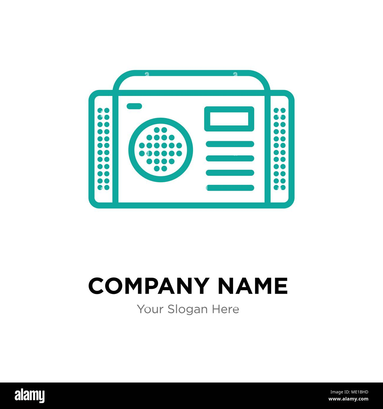 Radio company logo design template, Business corporate vector icon Stock Vector