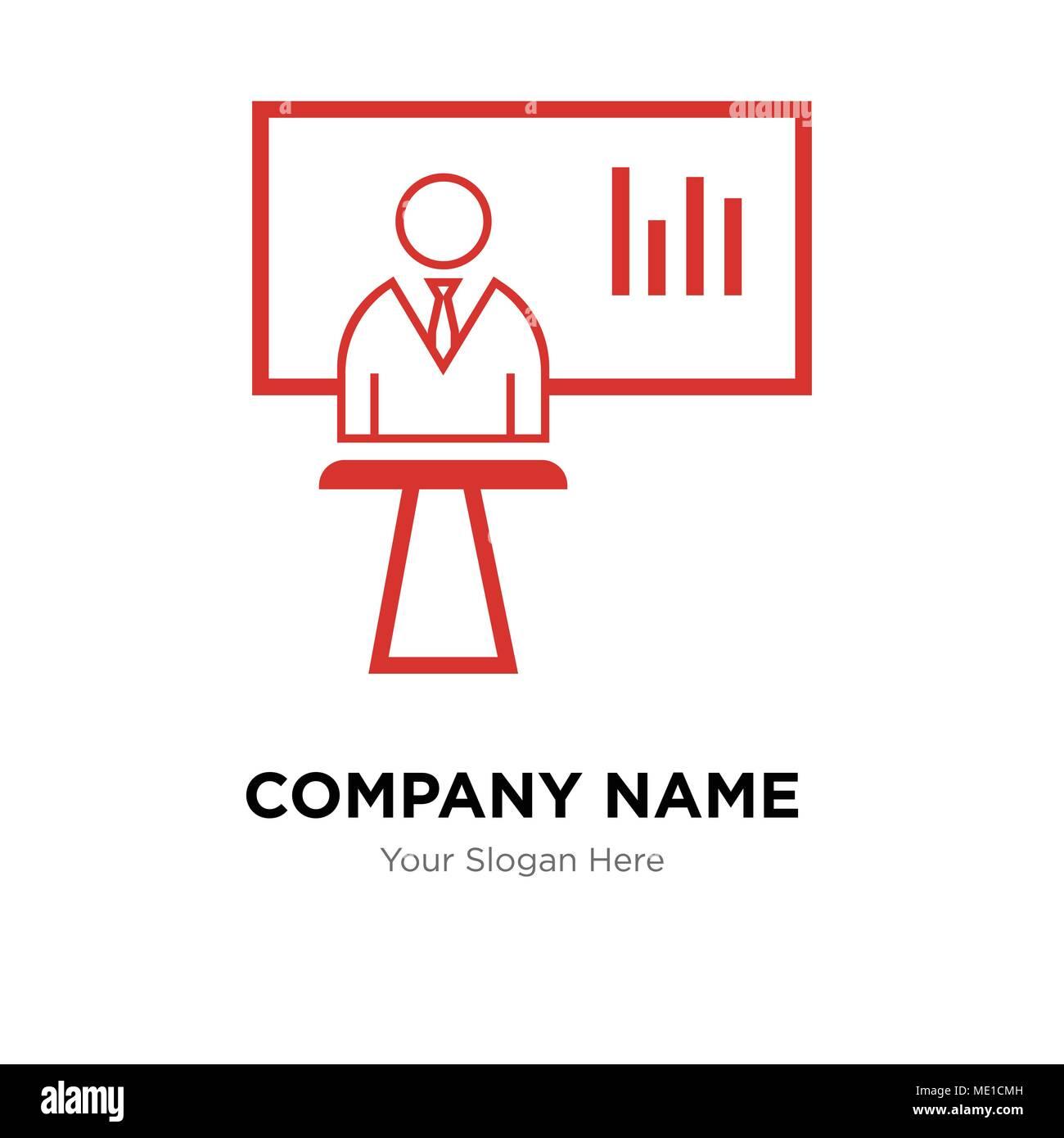 News presenter company logo design template business corporate news presenter company logo design template business corporate vector icon maxwellsz