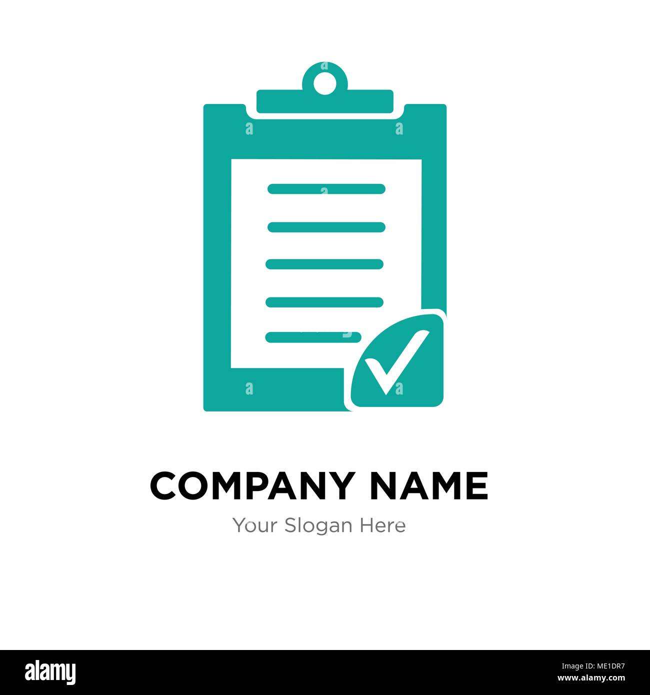 clipboard verification company logo design template business