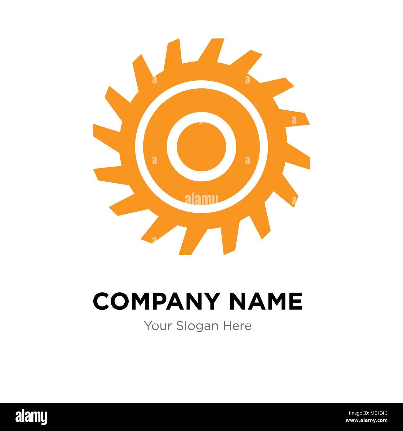 saw blade company logo design template business corporate vector