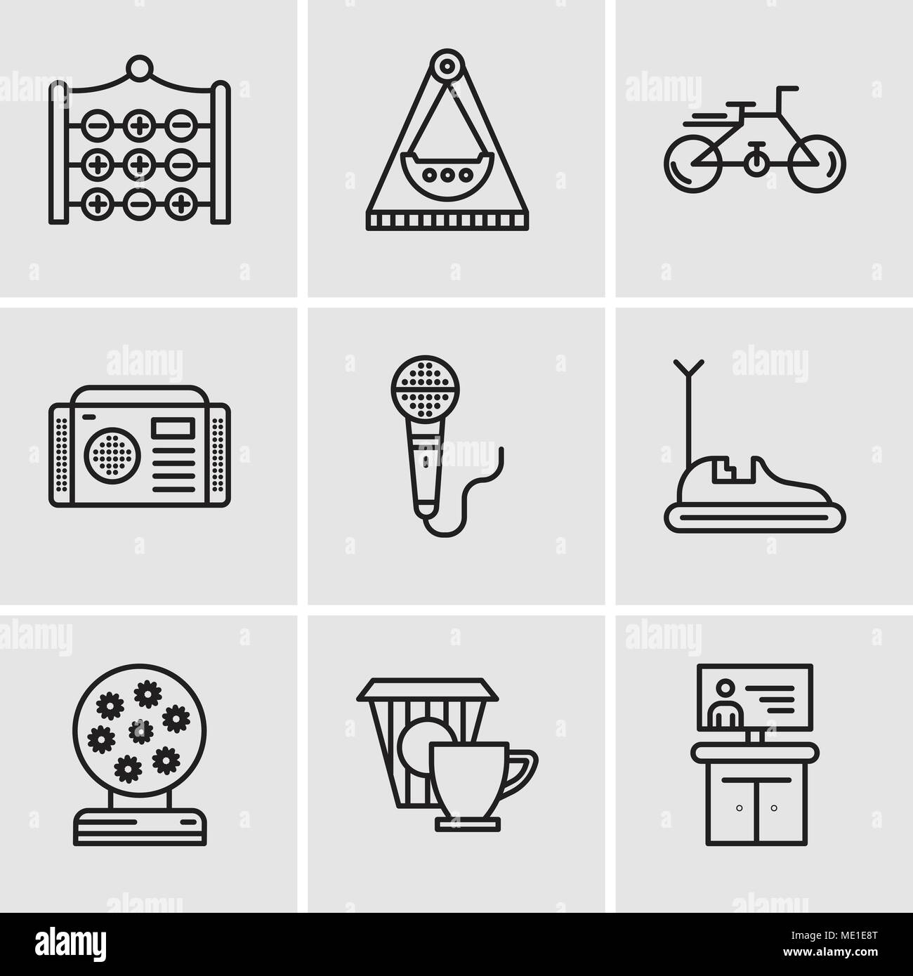 Set Of 9 Simple Editable Icons Such As Tv Coffee Magic Ball Bumper