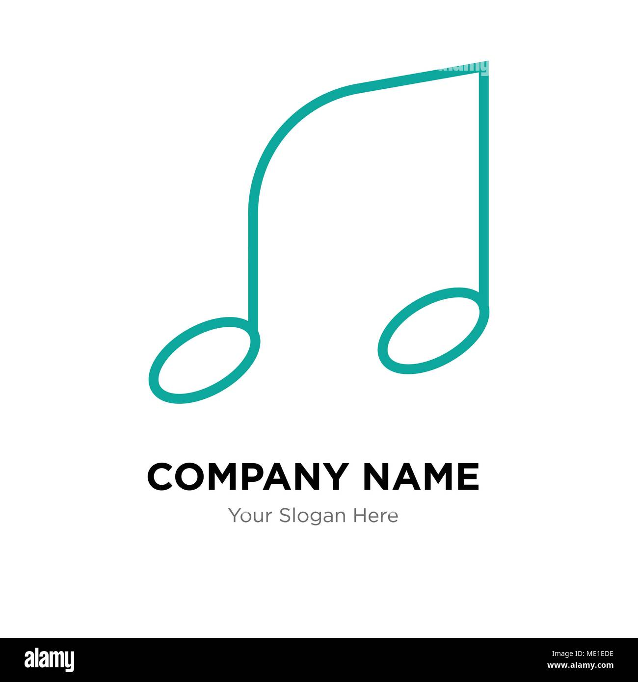 Musical Note Template | Musical Note Company Logo Design Template Business Corporate Vector