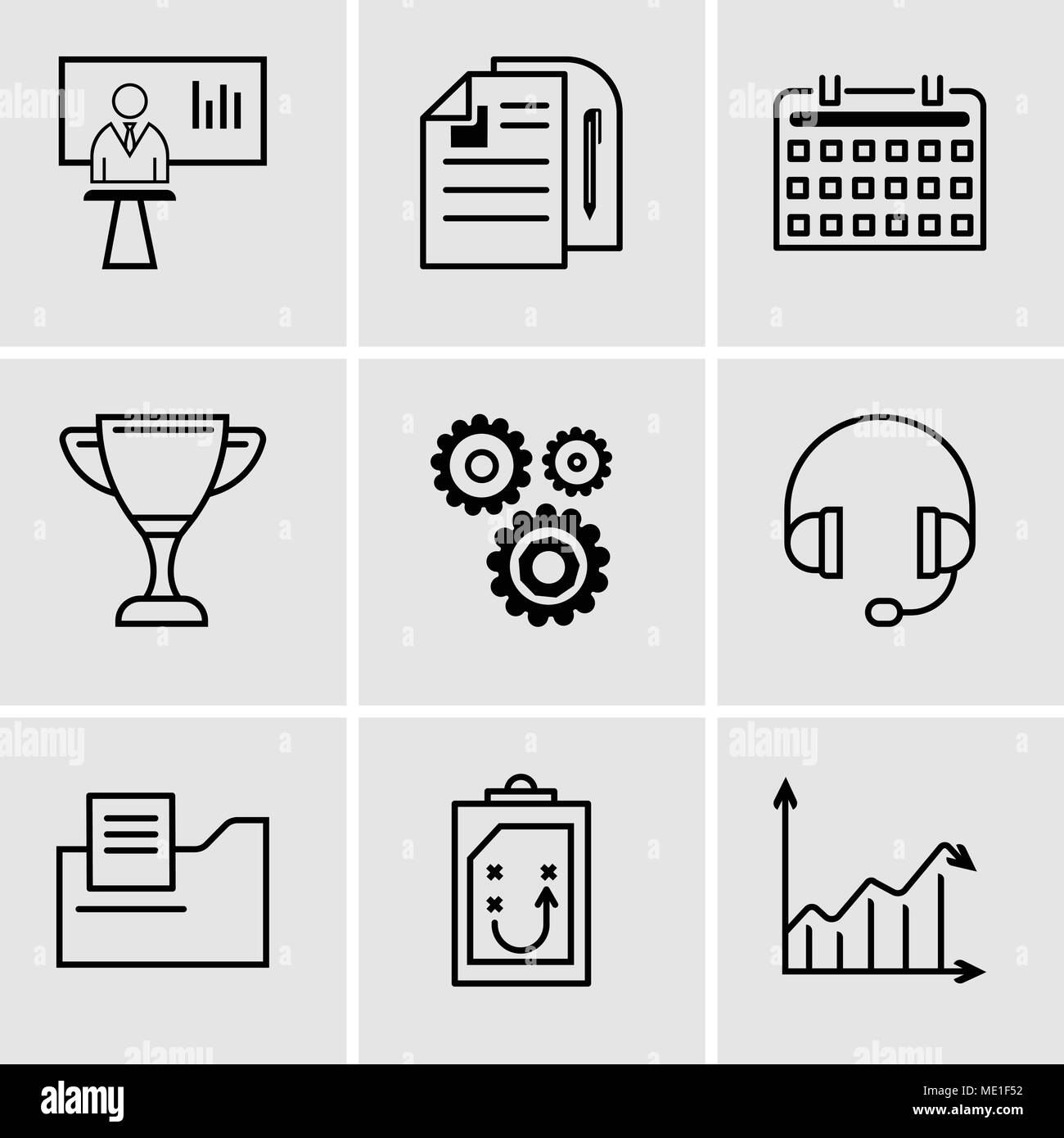 Set Of 9 simple editable icons such as Arrow analytc, Document
