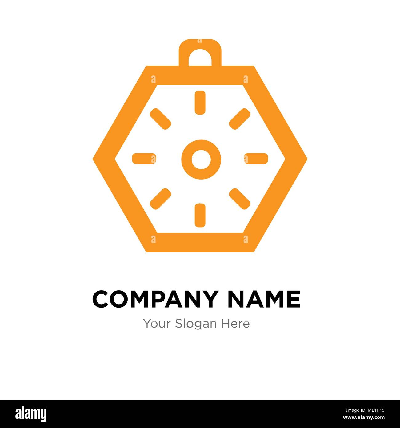 Localization orientation tool of compass with cardinal points company logo design template, Business corporate vector icon - Stock Image