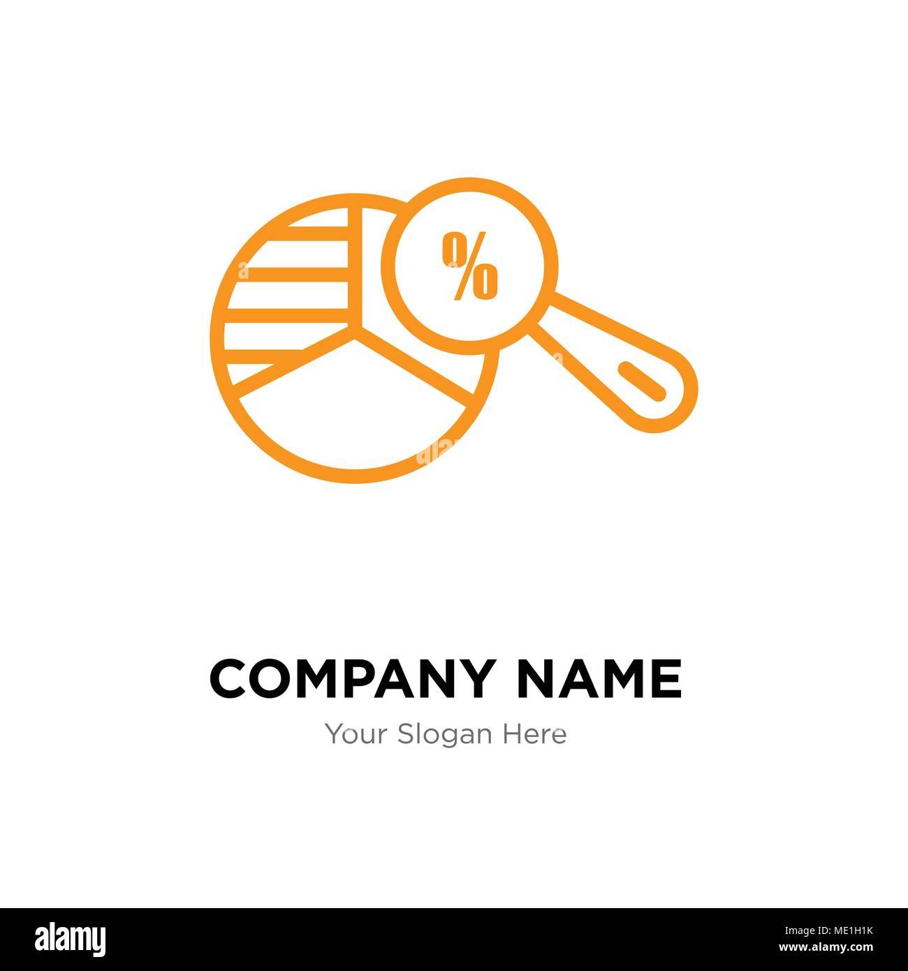 Pie Chart Analysis Company Logo Design Template Business Corporate