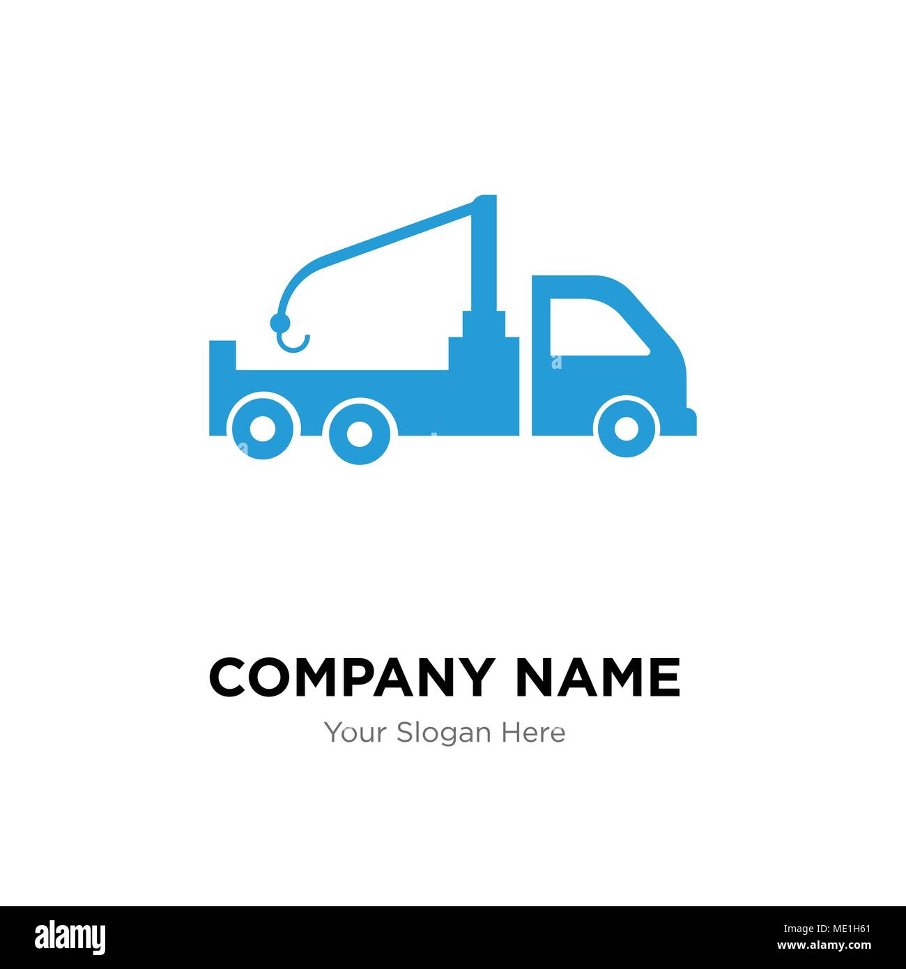 Crane truck company logo design template, Business corporate vector ...