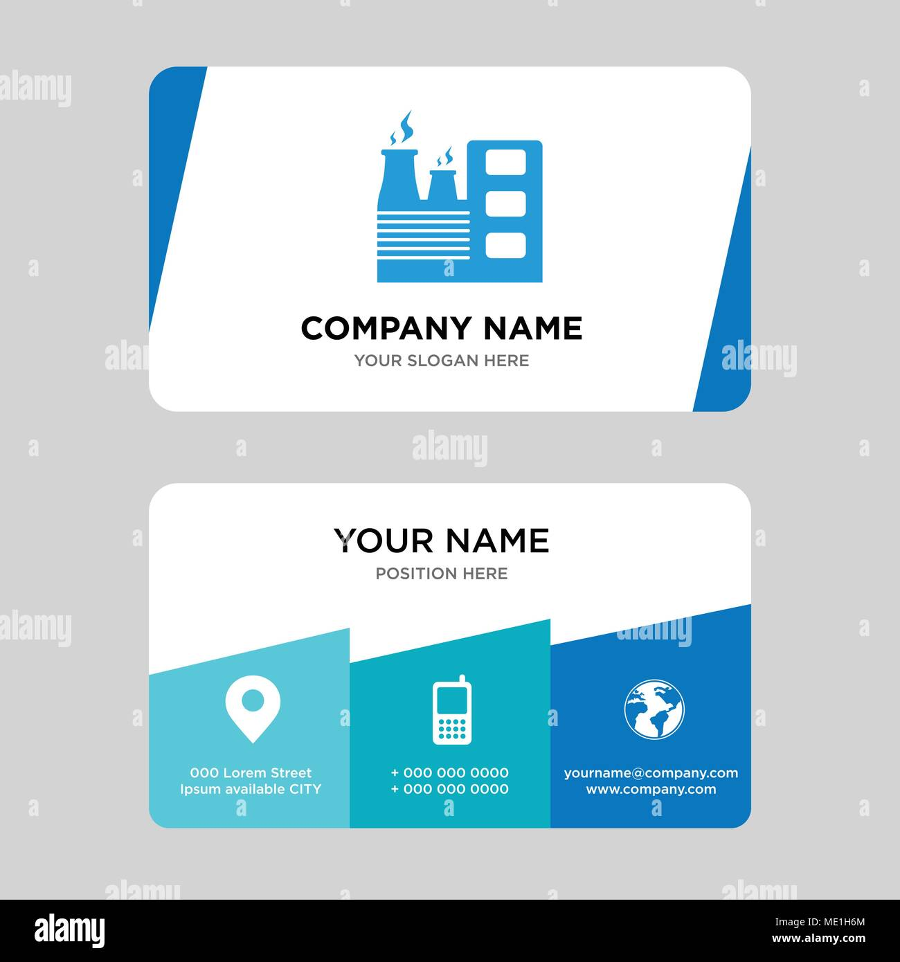 factory business card design template, Visiting for your company ...