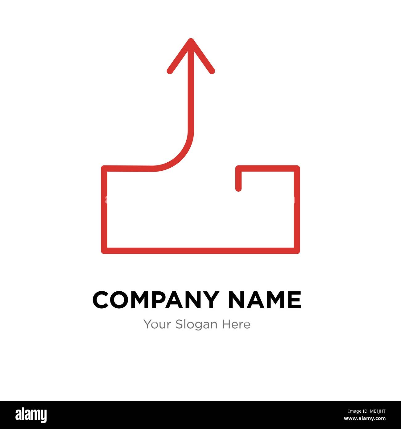 Outbox send mail company logo design template, Business corporate vector icon - Stock Image