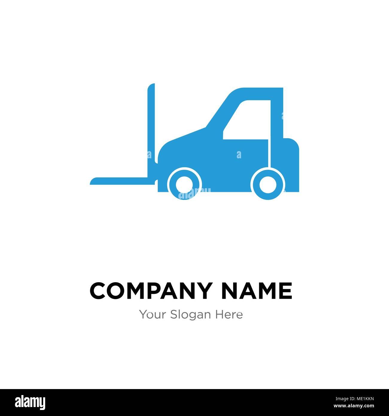 Logistics transport company logo design template, Business