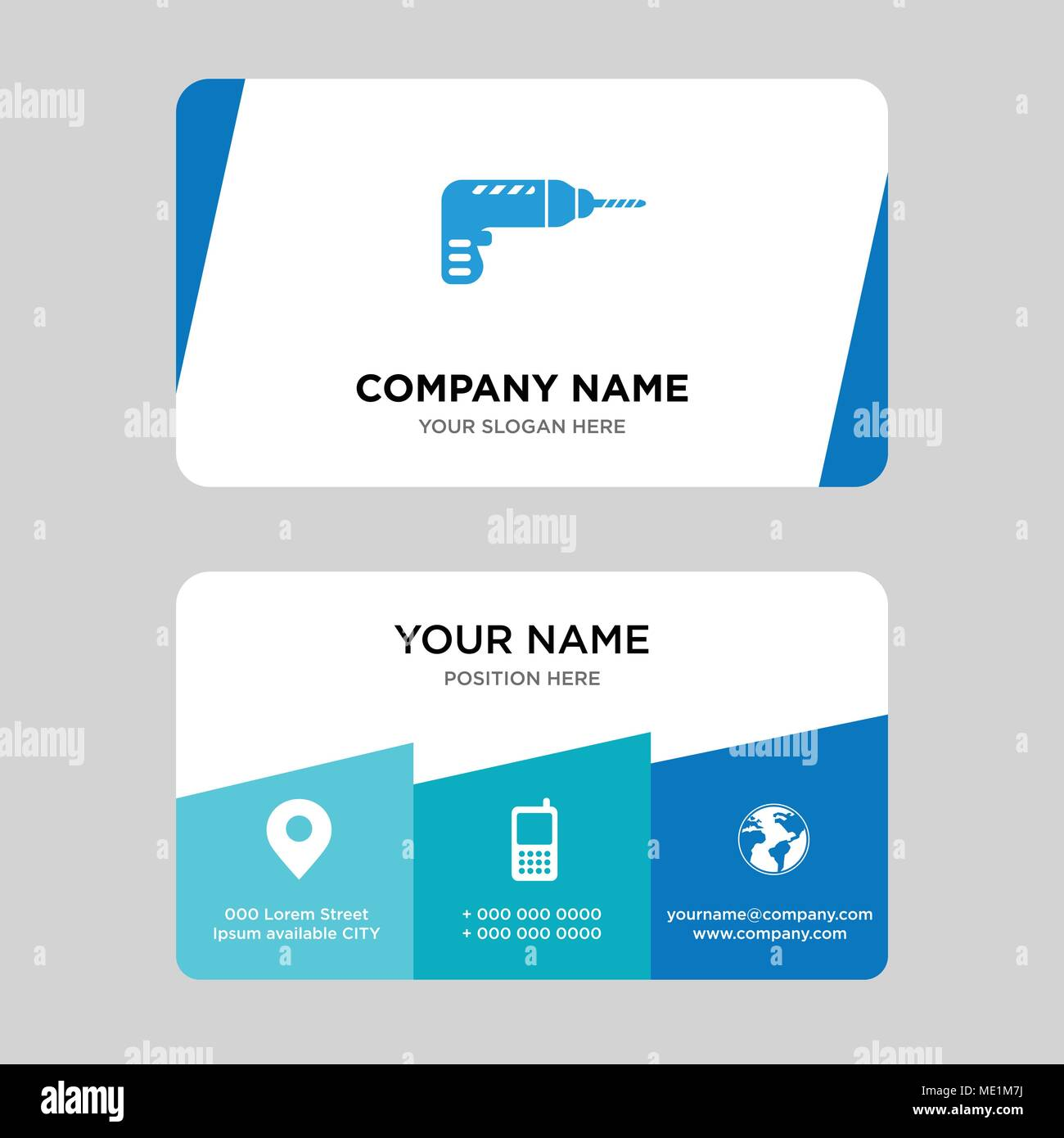 Drill Business Card Design Template Visiting For Your