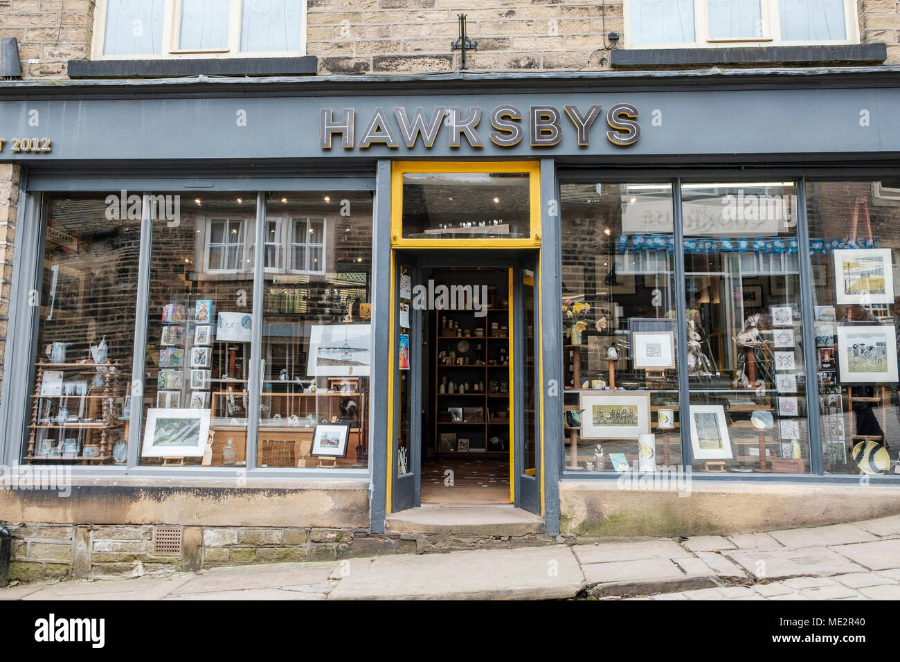 A Craft Shop In The Village Of Haworth Near Bradford Home Famous Bronte Family