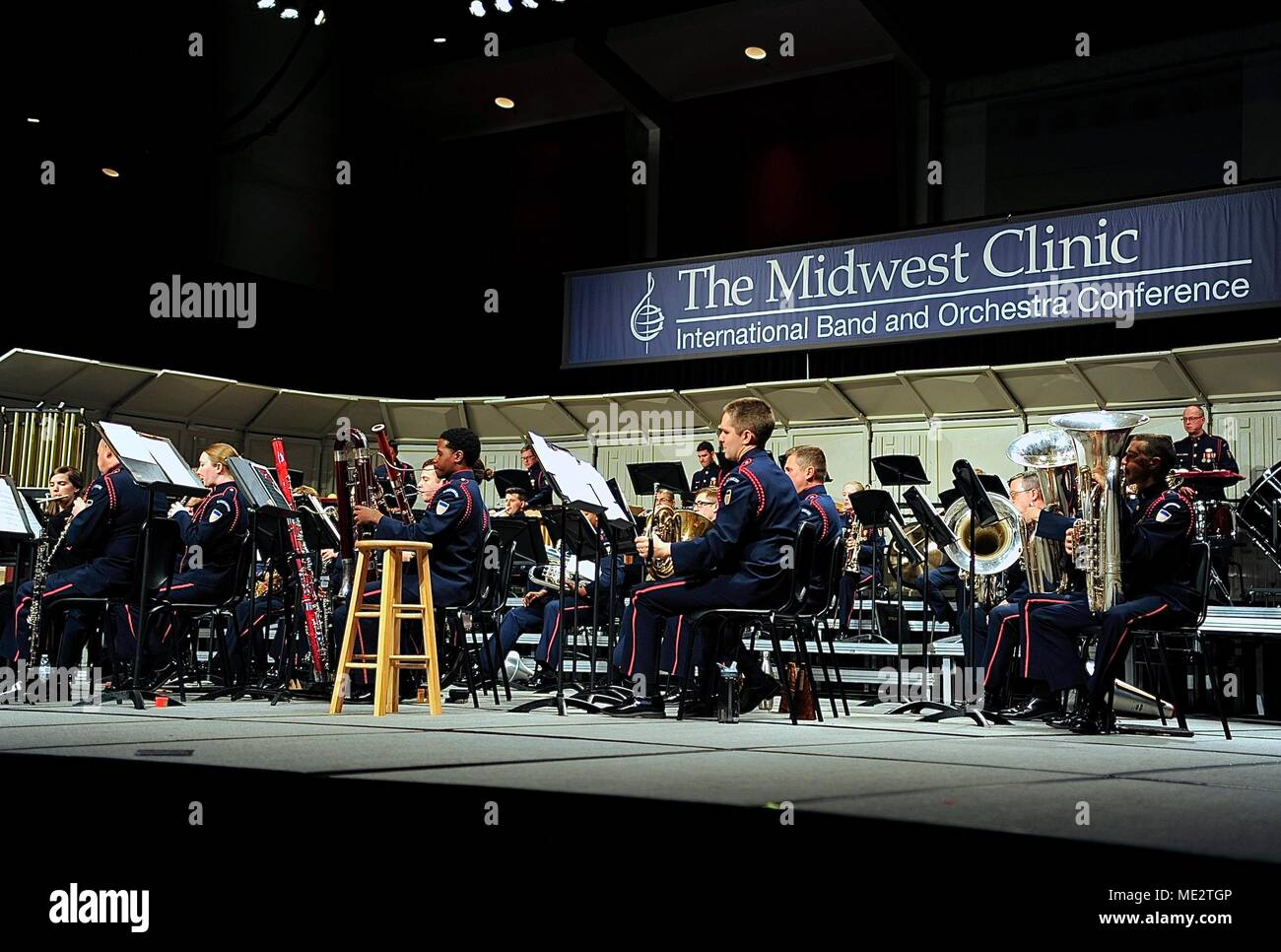 The Coast Guard Band performs one of two concerts at