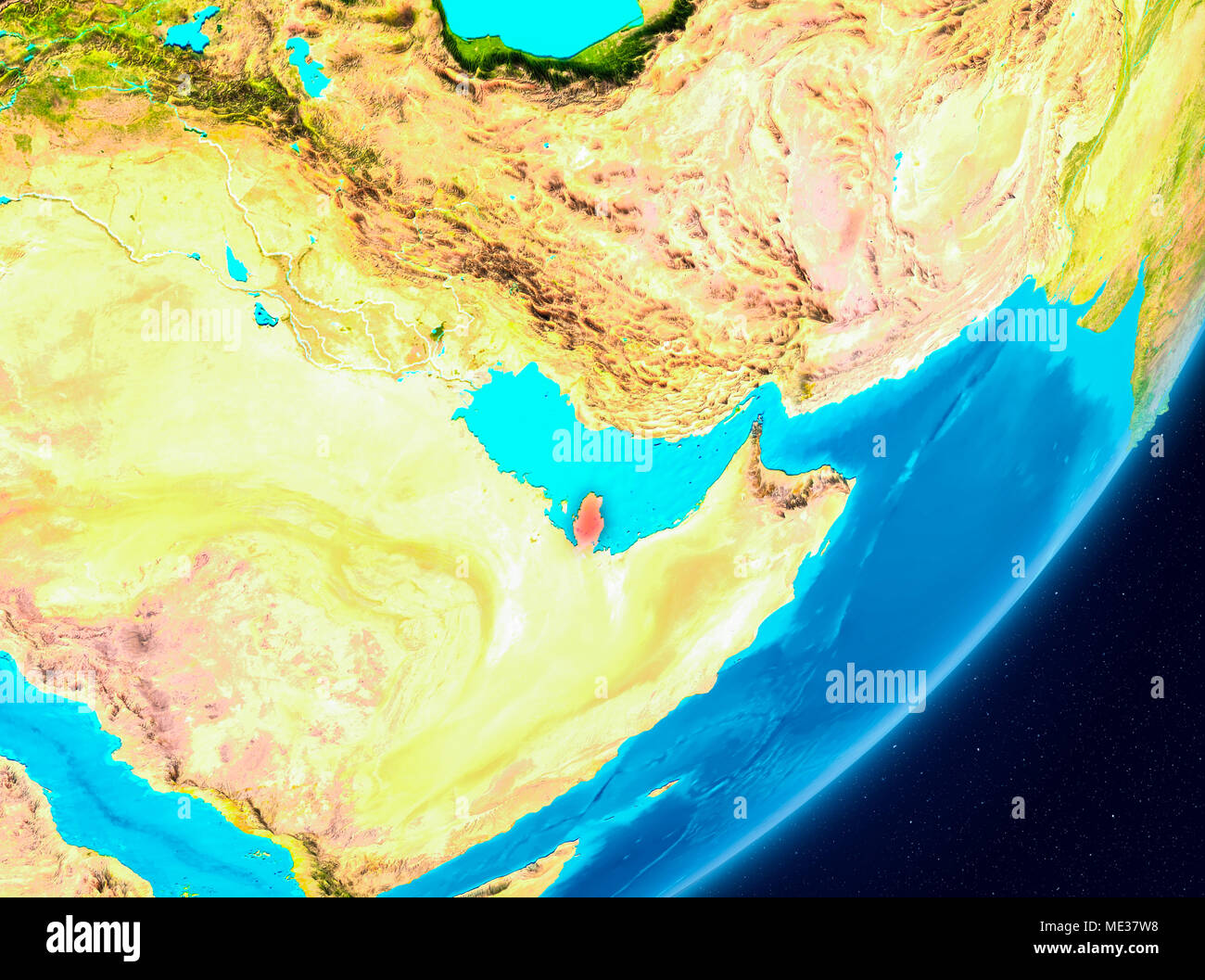 Qatar Map 3d Stock Photos & Qatar Map 3d Stock Images - Alamy