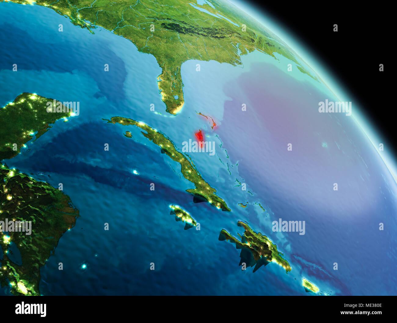 Satellite Map North America Night Stock Photos Satellite Map North