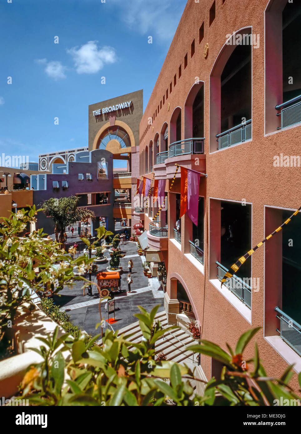 shopping center horton plaza in san diego california stock photo 180785432 alamy. Black Bedroom Furniture Sets. Home Design Ideas