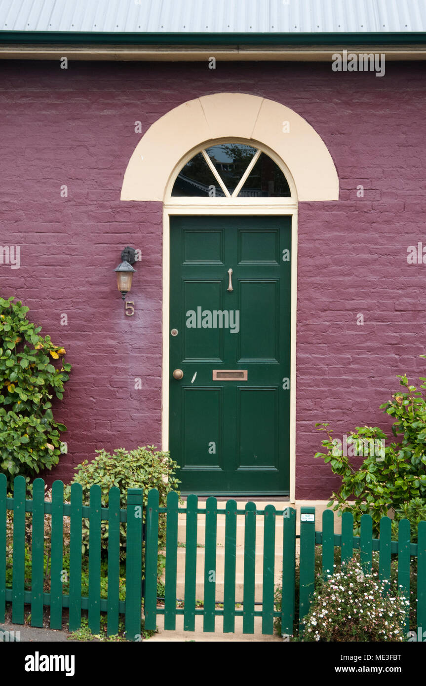 Front Door Of A Colonial Georgian Period Brick House In Battery Point Hobart Tasmania Australia Stock Photo Alamy