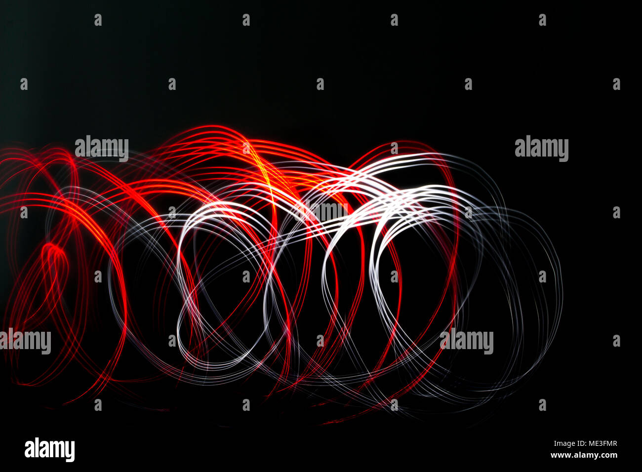 Light Painting with Professionalism - Stock Image