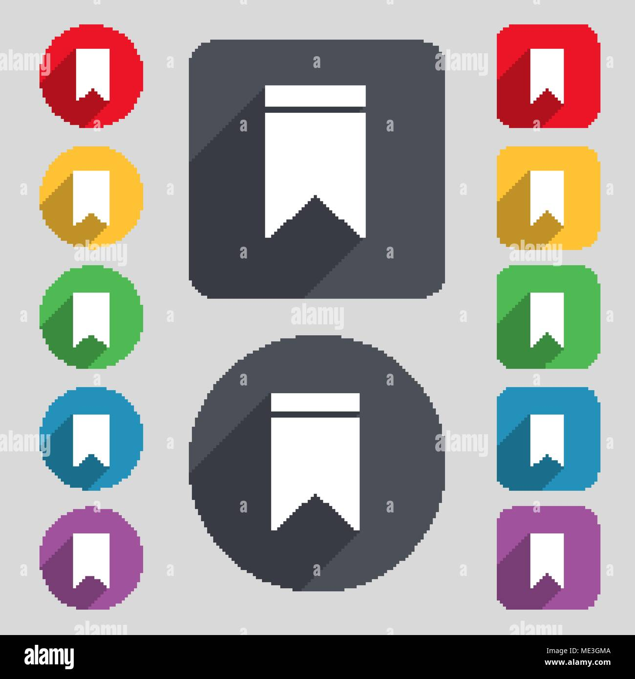Web stickers tags and banners sale icon sign a set of 12 colored
