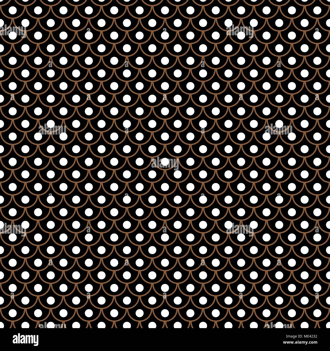 geometric fish scales chinese seamless pattern wavy roof tile