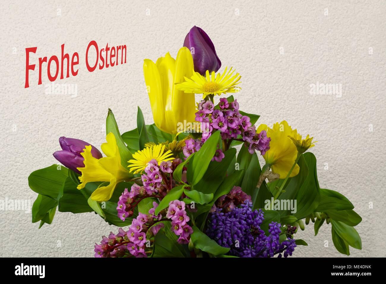 Osterstrauß  - Blumenstrauss Stock Photo