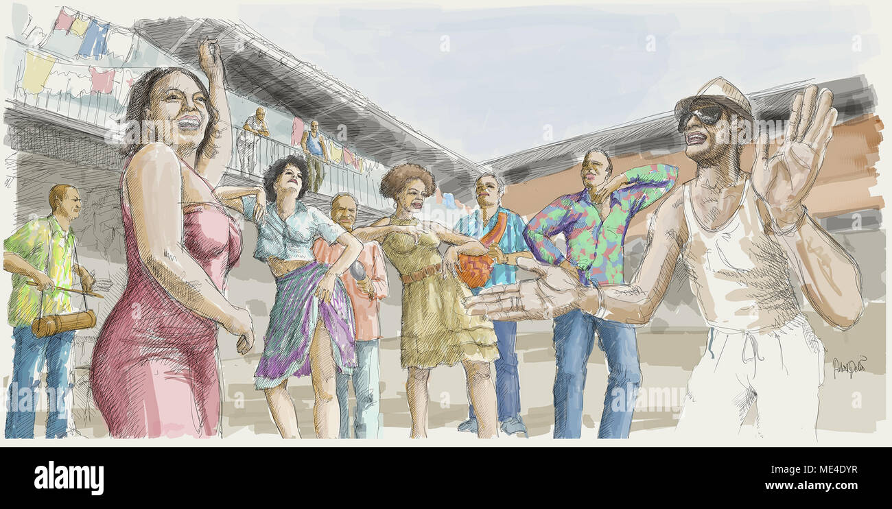 Latin dance - Stock Image
