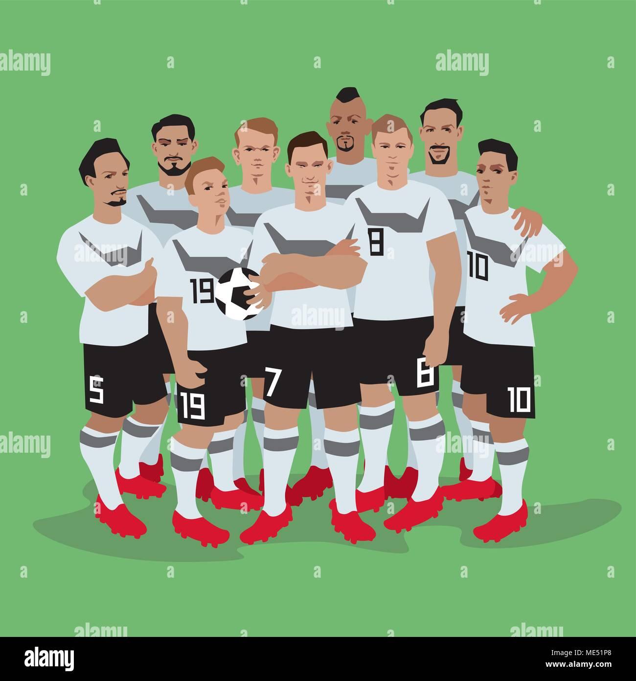 Germany Soccer / Football team players. - Stock Vector