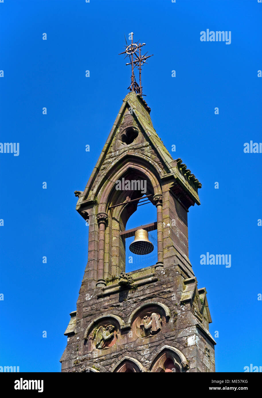 Detail of Bellcote. Church of Saint Mary (Roman Catholic). Cleator, Cumbria, England, United Kingdom, Europe. - Stock Image