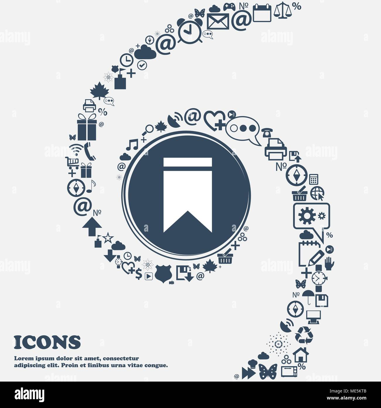 Web stickers tags and banners sale icon sign in the center around