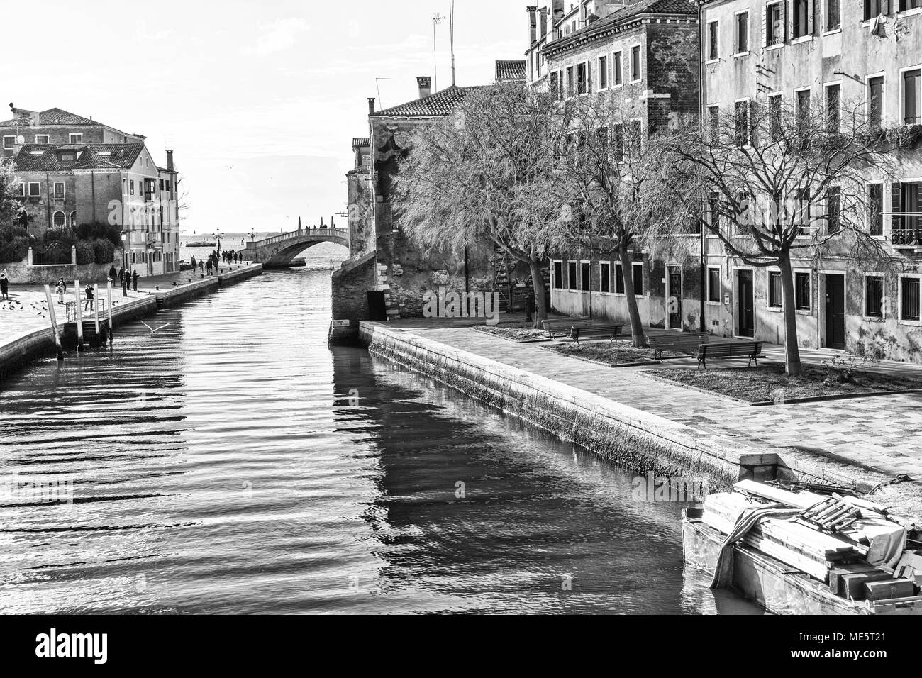 Venice, Arsenale: the Venetian Arsenal is a complex of former shipyards and armories - Stock Image