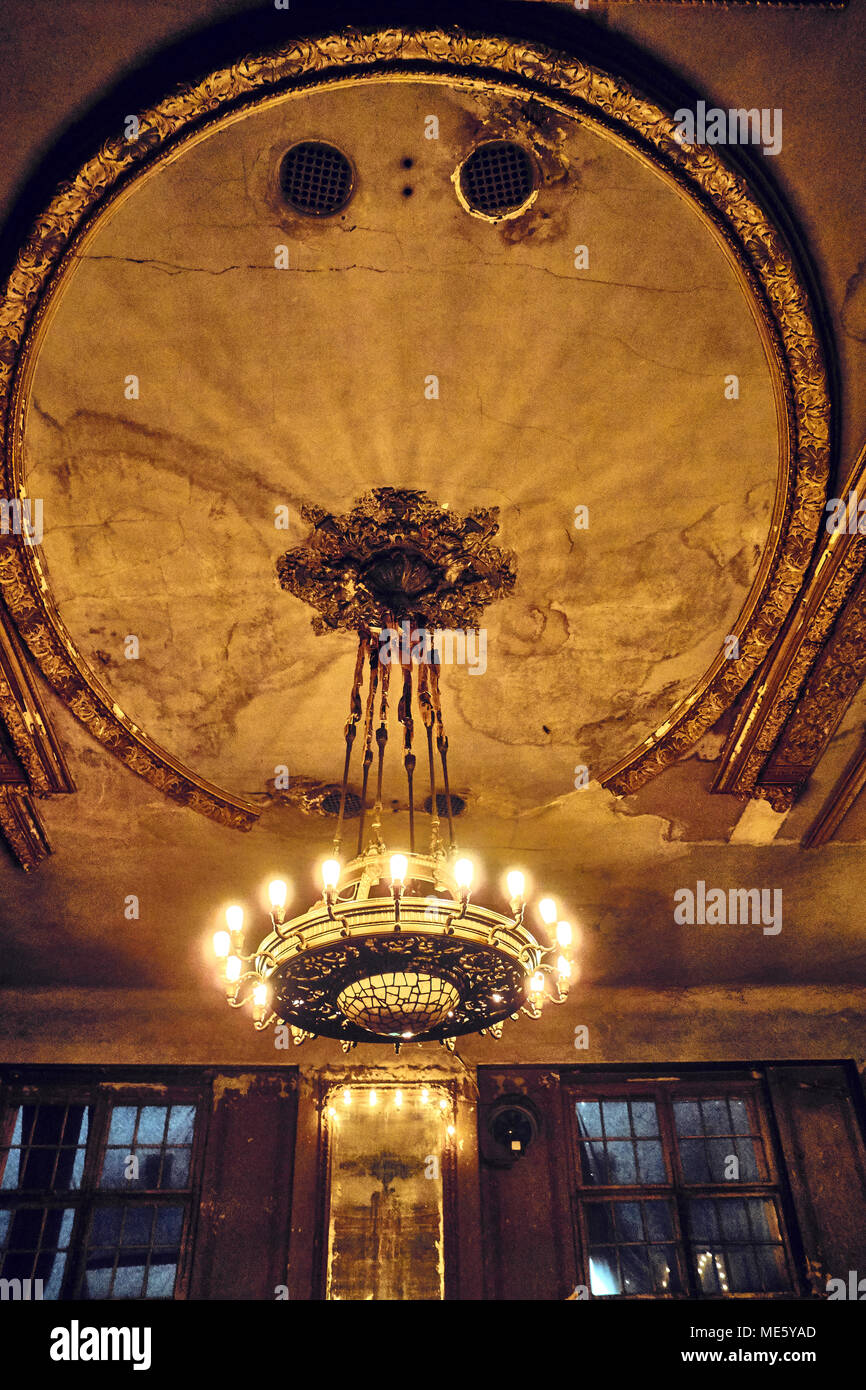 The faded grandeur of Clärchens Ballhaus in Mitte Berlin Germany EU. - Stock Image