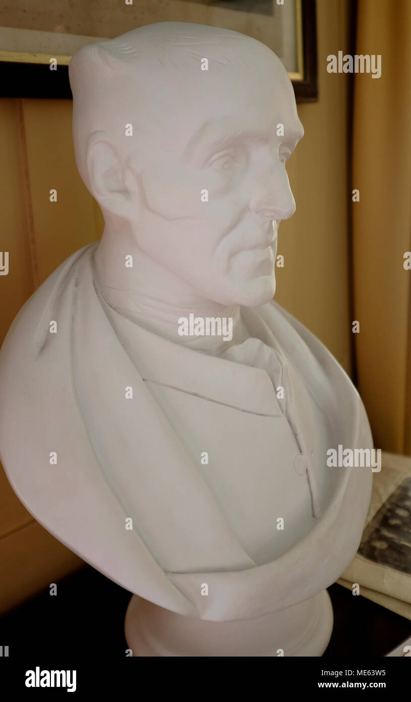 duke of wellington 18th century war general bust kent uk april 2018 - Stock Image