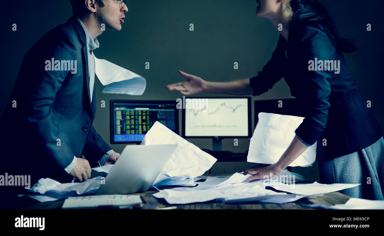 Colleagues disagreeing in a meeting Stock Photo