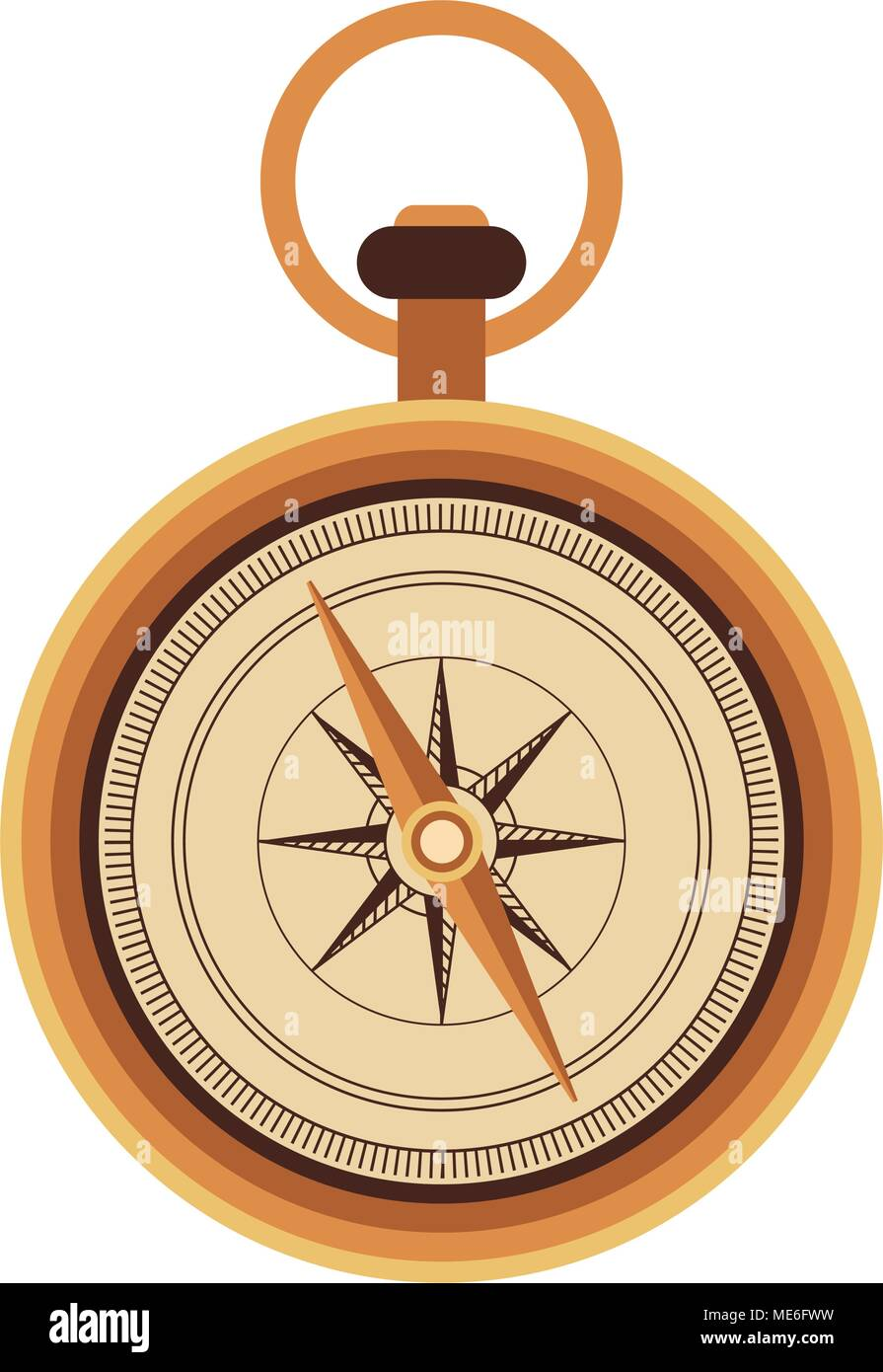 Vintage navigation compass - Stock Image