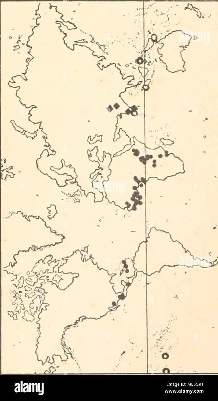 . Die geographische Verbreitung der Oligochaeten . Cd CO CO 03 CO I CO CO C3) • O CO CO faJD toA - Stock Image
