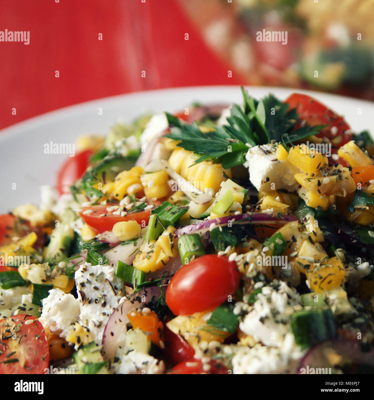 Peachy Colorful Vegetable Mix Simple Low Calories Salad Cherry Home Interior And Landscaping Fragforummapetitesourisinfo