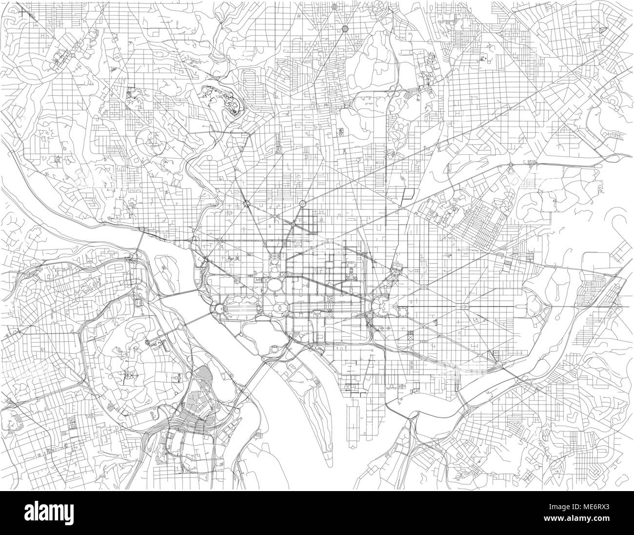Washington D.C. map, is the capital of the United States of America ...