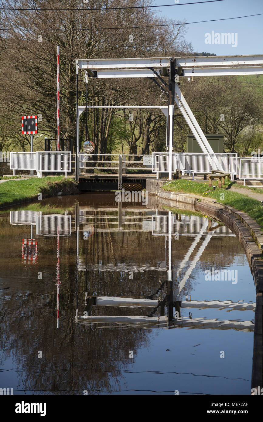 The Brecon Canal Bridge at Talybont on Usk, South Wales - Stock Image
