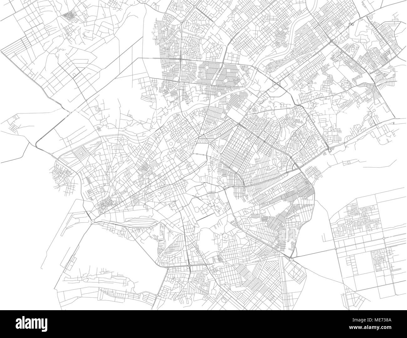 Map Of Asia Karachi.Map Of Karachi The Capital Of The Pakistani Province Of Sindh