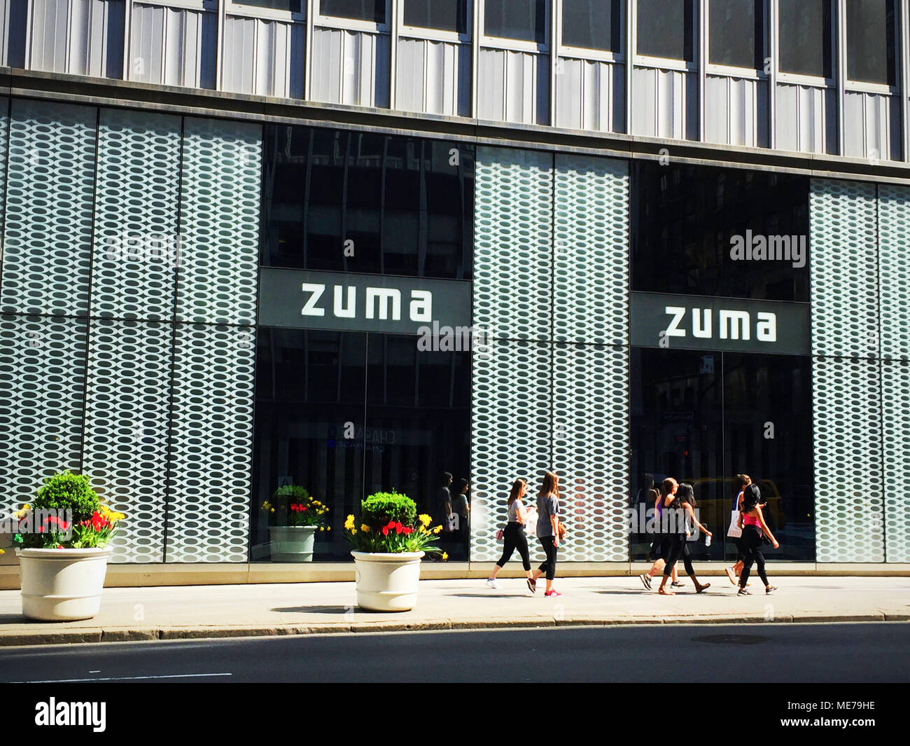 Zuma Restaurant Exterior on Madison Avenue, NYC, USA Stock Photo