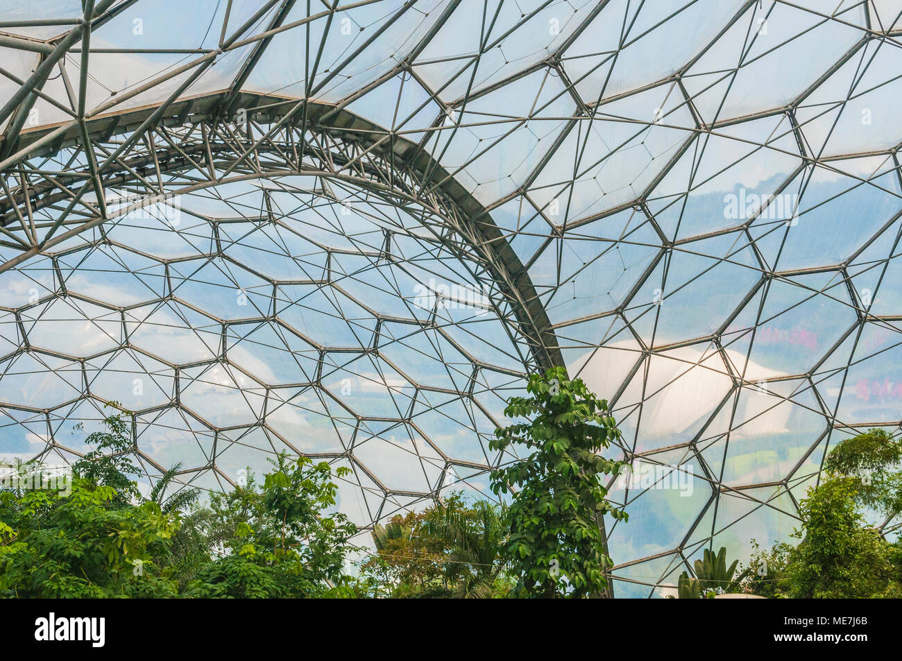 The Eden Project near St Austell, Cornwall PHILLIP ROBERTS - Stock Image