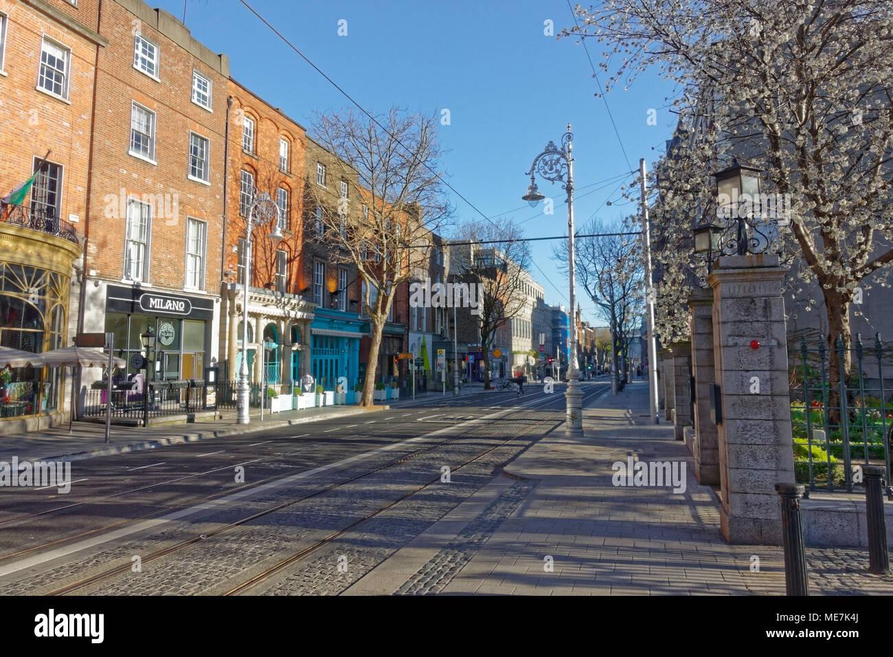 Dawson street in Dublin Stock Photo