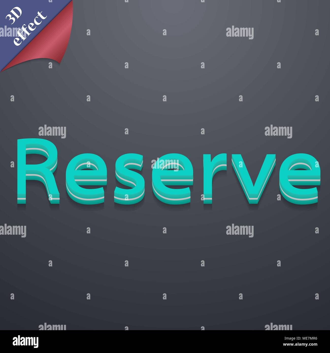 Reserved icon symbol. 3D style. Trendy, modern design with space for your text Vector illustration - Stock Image