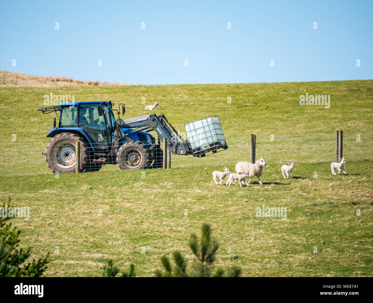 Tractor With Tanker : Tractor and water tank stock photos