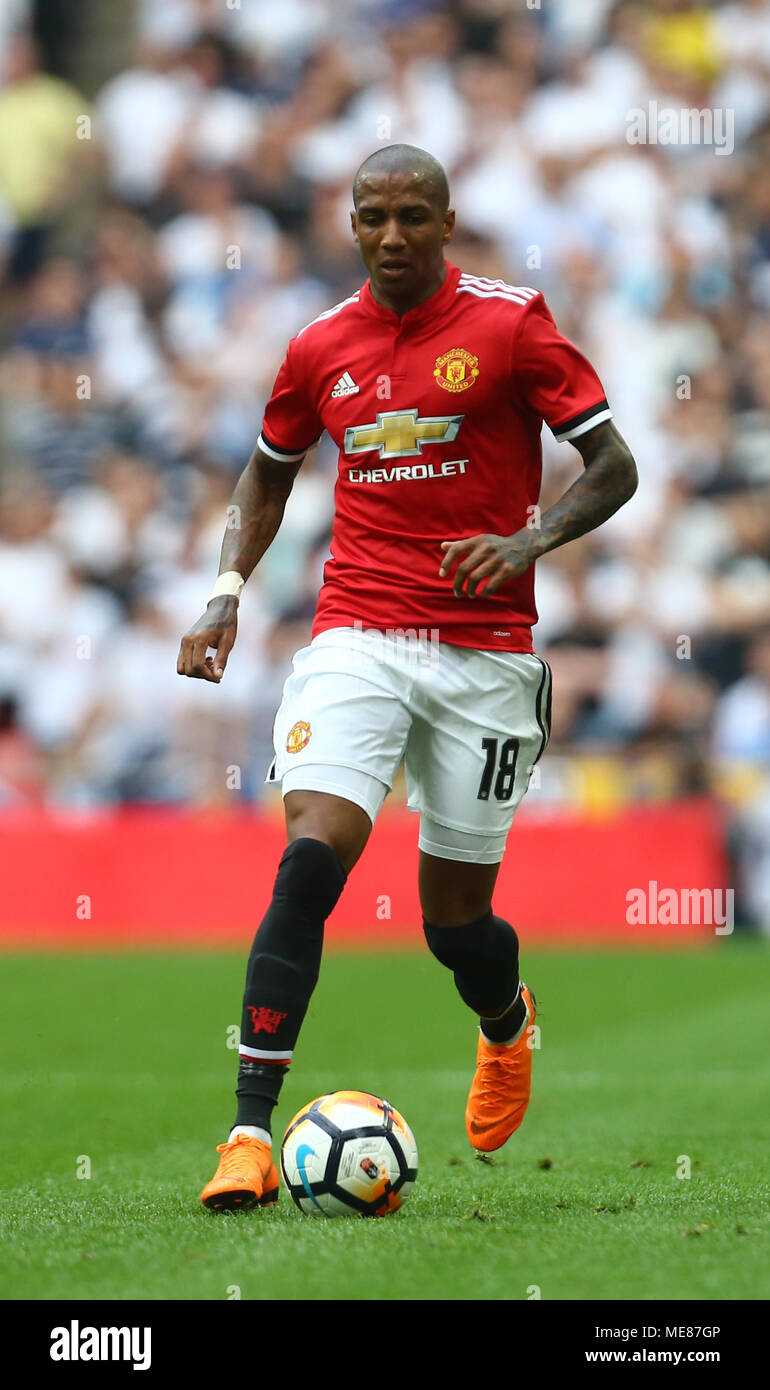 Ashley Young Of Manchester United During The Fa Cup Semi Final Match Between Manchester United And Tottenham Hotspur At Wembley Stadium On April 21st 2018 In London England Photo By Leila Coker Phcimages Com
