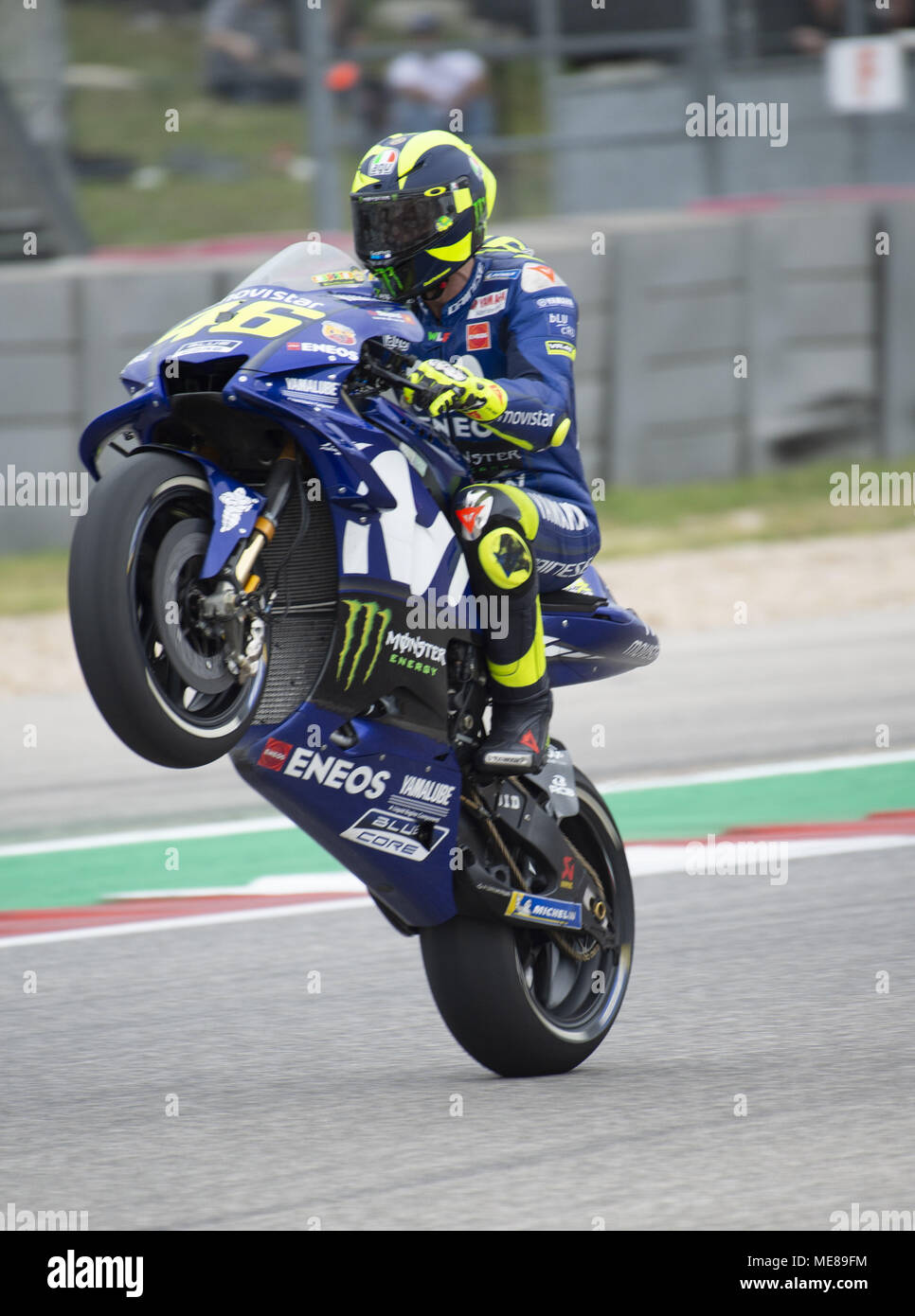 Austin Texas U S A 21st Apr 2018 46 Valentino Rossi Of