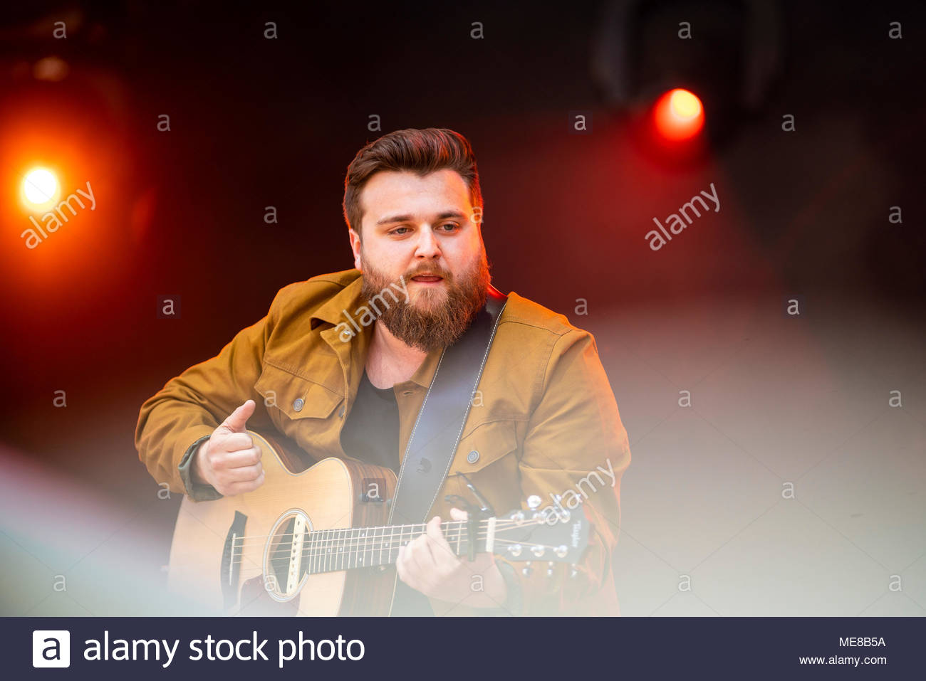 Chamonix, France, 21 April 2018. Bear's Towers performing live at the first edition of MUSILAC Mont-Blanc music festival in Chamonix (France) - 20 April 2018 Credit: Olivier Parent/Alamy Live News Stock Photo