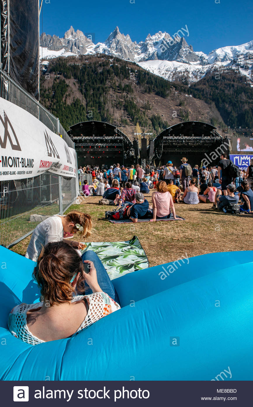 Chamonix, France, 21 April 2018. MUSILAC Mont-Blanc festival in Chamonix (France) - 2018 Credit: Olivier Parent/Alamy Live News - Stock Image
