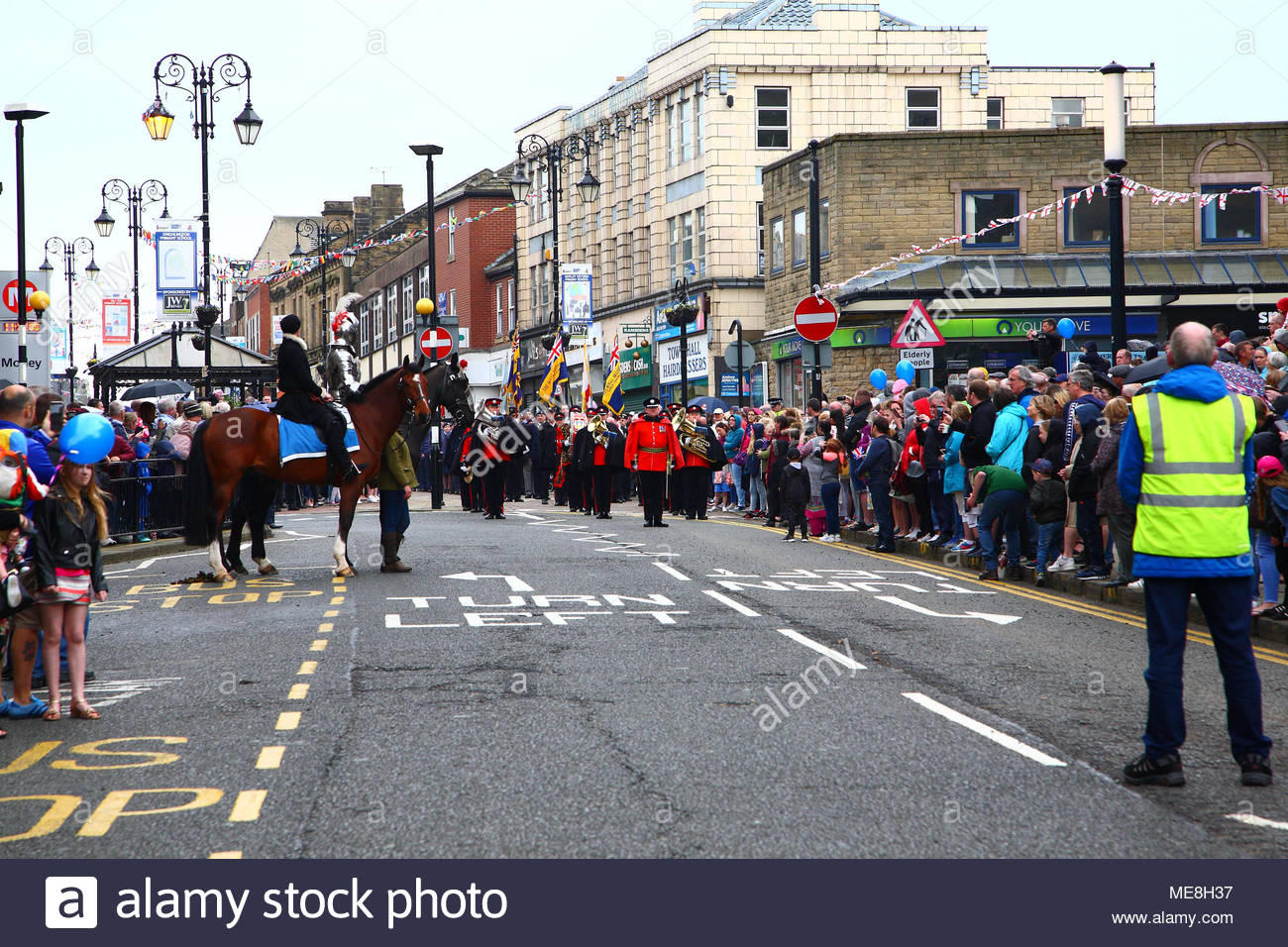 Leeds, UK, 22 April 2018  The second day of St George's day