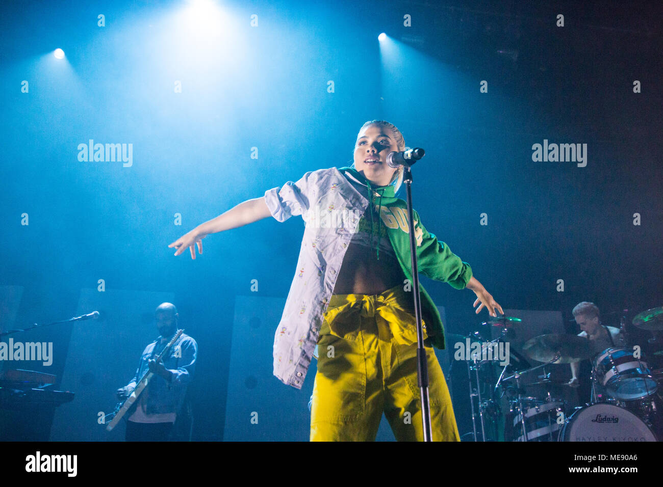 Vancouver, BC / Canada - April 18th 2018: American singer-songwriter Hayley Kiyoko performing at The Vogue Theatre in Vancouver. Credit: Jamie Taylor - Stock Image