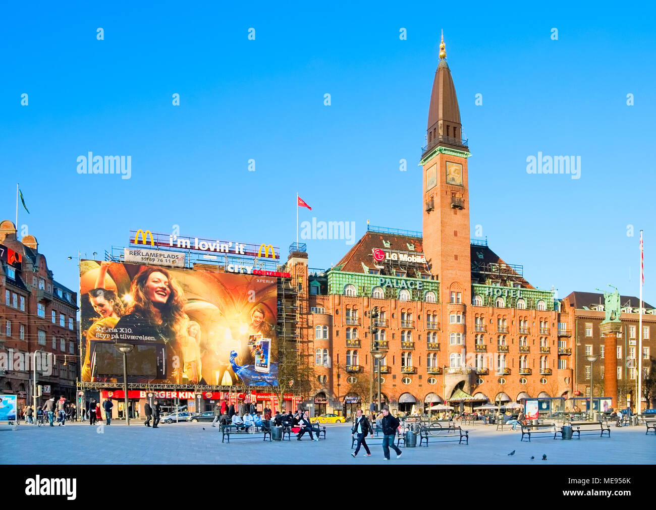 COPENHAGEN, DENMARK - APRIL 13, 2010: Scandic Palace Hotel on the City Hall Square. Was built in 1910. - Stock Image